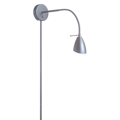 Dainolite Lighting  DGUW224-SC Wall Mounted Halogen Reading Lamp, Satin Chrome
