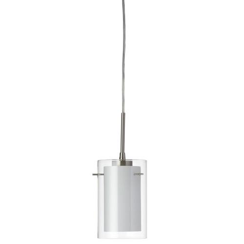 Dainolite Lighting  DL293701-SC Single Pendant, Chrome, Clear/White Glass