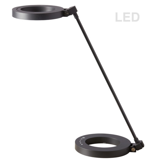Dainolite Lighting  DLED-202T-BK Compact LED Desk Lamp, with Dimmable Switch & Night Light Texture, Matte Black finish