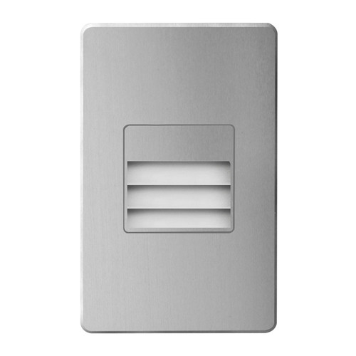 Dainolite Lighting  DLEDW-234-BA 120VAC input, L125mmxW78mmxH37mm, 2700K, 3.3W IP65,  Brushed Aluminum Wall LED Light with Louver.
