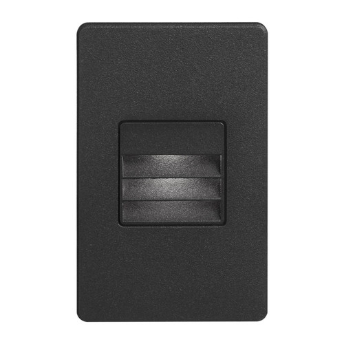 Dainolite Lighting  DLEDW-234-BK 120VAC input, L125mmxW78mmxH37mm, 2700K, 3.3W IP65, Black Wall LED Light with Louver.
