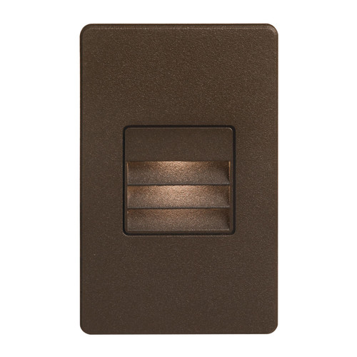 Dainolite Lighting  DLEDW-234-BZ 120VAC input, L125mmxW78mmxH37mm, 2700K, 3.3W IP65, Bronze Wall LED Light with Louver