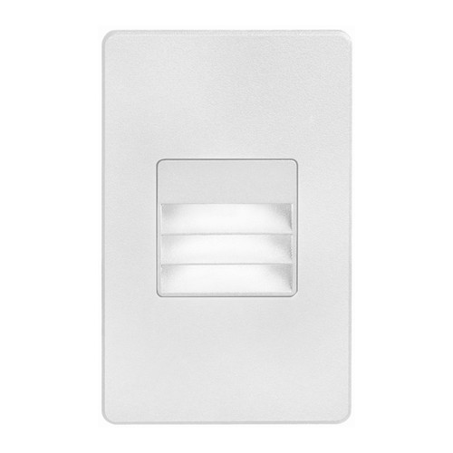 Dainolite Lighting  DLEDW-234-WH 120VAC input, L125mmxW78mmxH37mm, 2700K, 3.3W IP65, White Wall LED Light with Louver