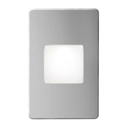 Dainolite Lighting  DLEDW-245-BA 120VAC input, L125mmxW78mmxH37mm, 2700K, 3.3W IP65, Brushed Aluminum Wall LED Light with White Lens.