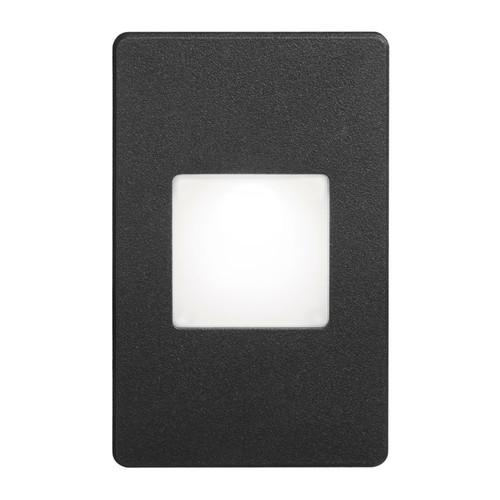 Dainolite Lighting  DLEDW-245-BK 120VAC input, L125mmxW78mmxH37mm, 2700K, 3.3W IP65, Black Wall LED Light with White Lens.