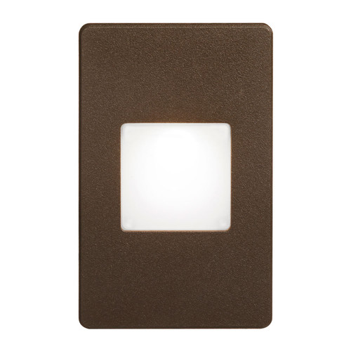 Dainolite Lighting  DLEDW-245-BZ 120VAC input, L125mmxW78mmxH37mm, 2700K, 3.3W IP65, Bronze Wall LED Light with White Lens