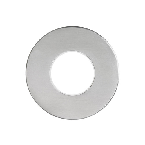 Dainolite Lighting  DLEDW-310-BA 120VAC input, Ø88xH82mm, 2700K, 3.3W IP65, Brushed Aluminum Wall LED Light with White Lens.