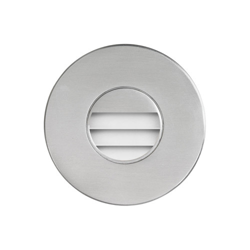 Dainolite Lighting  DLEDW-330-BA 120VAC input, Ø88xH82mm, 2700K, 3.3W IP65, Brushed Aluminum Wall ED Light with Louver.