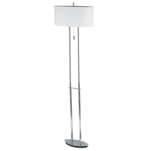 Dainolite Lighting  DM2222F-PC Floor Lamp, Polished Chrome, White Oval Shade