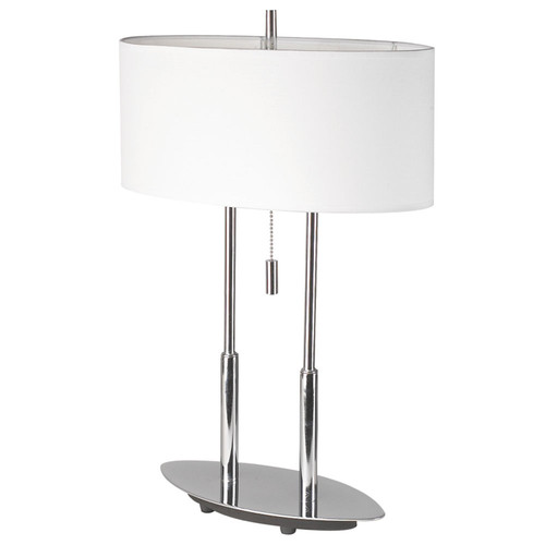 Dainolite Lighting  DM2222-PC Table Lamp, Polished Chrome, White Oval Shade