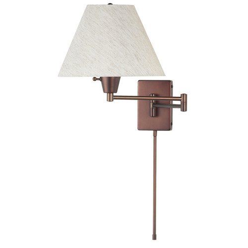 Dainolite Lighting  DMWL800-OBB Swing Arm Wall Lamp, Oil Brushed Bronze, Flax Linen Empire Shade