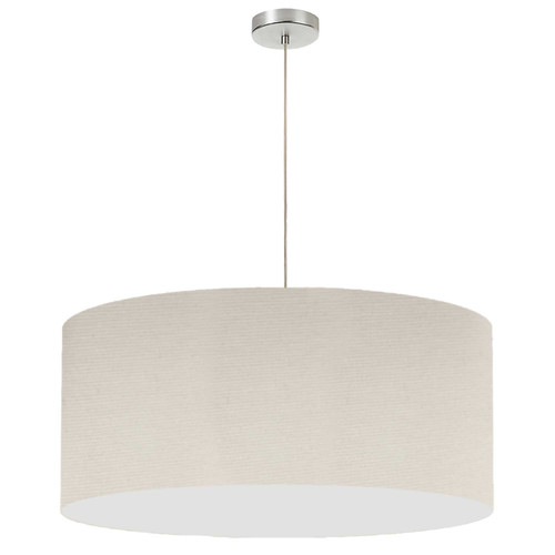 "Dainolite Lighting  DRM-L-721 1 Light, 28"" Drum Shade Pendant, No Bottom Diffuser, Beige Italian Linen Fabric"