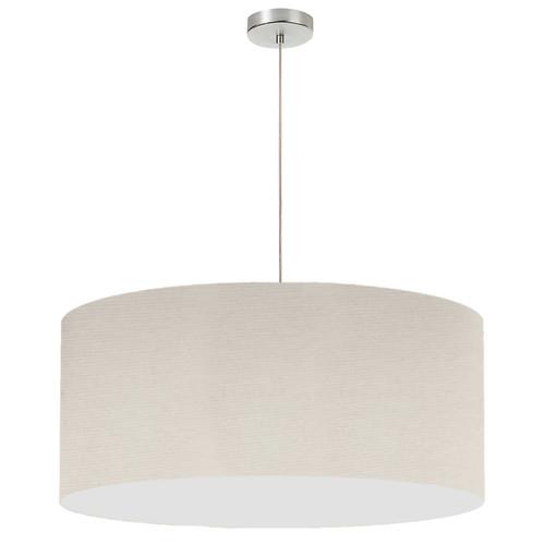 "Dainolite Lighting  DRM-L-721 1 Light, 28"" Drum Shade Pendant, No Bottom Diffuser, Beige Italian Linen Fabric"