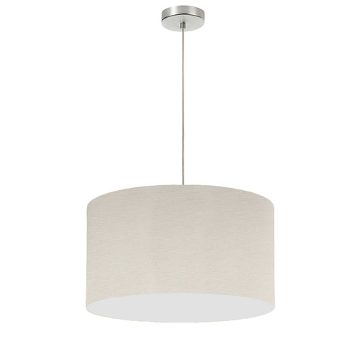 "Dainolite Lighting  DRM-S-721 1 Light, 19"" Drum Shade Pendant, Beige Italian Linen Fabric"