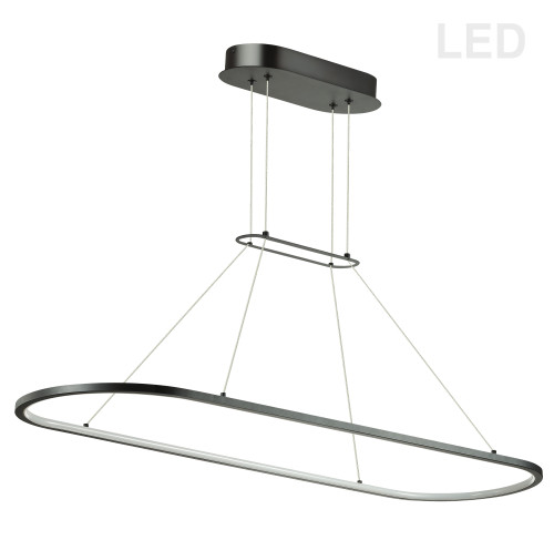 Dainolite Lighting  DTA-4046LEDHP-MB 46W Horizontal Pendant, Matte Black with White Diffuser