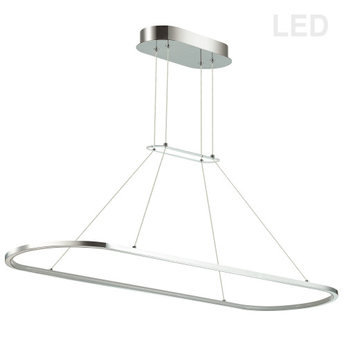 Dainolite Lighting  DTA-4046LEDHP-PC 46W Horizontal Pendant, Polished Chrome with White Diffuser