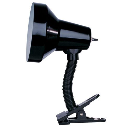 Dainolite Lighting  DXL16-BK Clip-On Lamp, Gloss Black