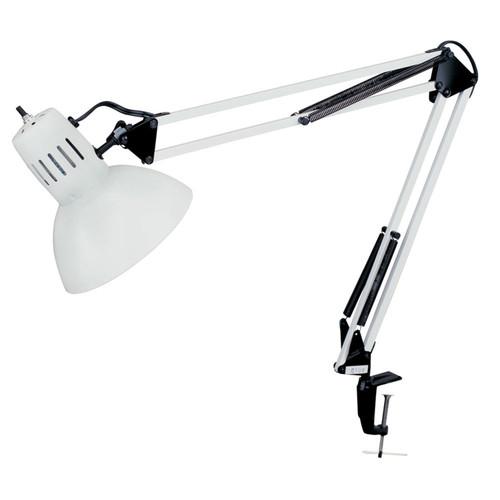 "Dainolite Lighting  DXL334-X-WH Spring Balanced Clamp-On Lamp, Gloss White, 36"" Reach"