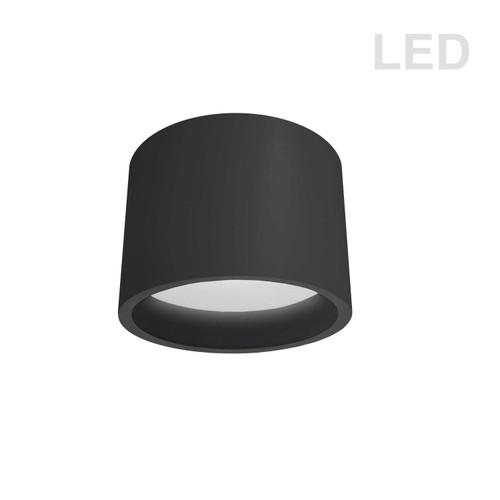 Dainolite Lighting  ECO-C1015-MB 15W Flush Mount, Matte Black with White Diffuser