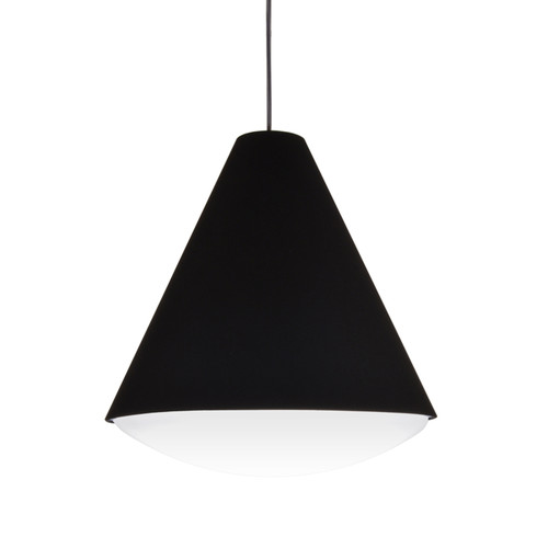 Dainolite Lighting  EMLED-13P-BK LED Pendant Empire Shade, Black