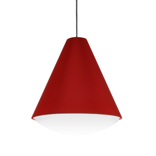 Dainolite Lighting  EMLED-13P-RD LED Pendant Empire Shade, Red