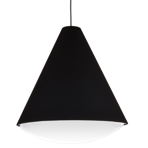 Dainolite Lighting  EMLED-17P-BK LED Pendant Empire Shade, Black