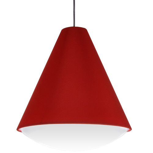 Dainolite Lighting  EMLED-17P-RD LED Pendant Empire Shade, Red