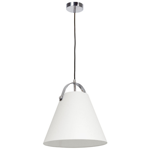 Dainolite Lighting  EMP-111P-719-PC 1 Light Emperor Pendant Polished Chrome with Off White Shade