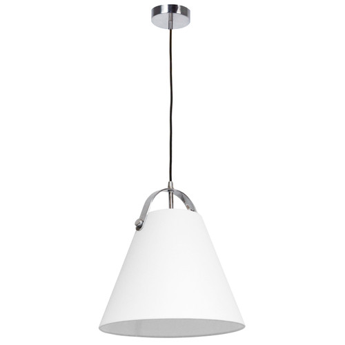 Dainolite Lighting  EMP-111P-790-PC 1 Light Emperor Pendant Polished Chrome with White Shade