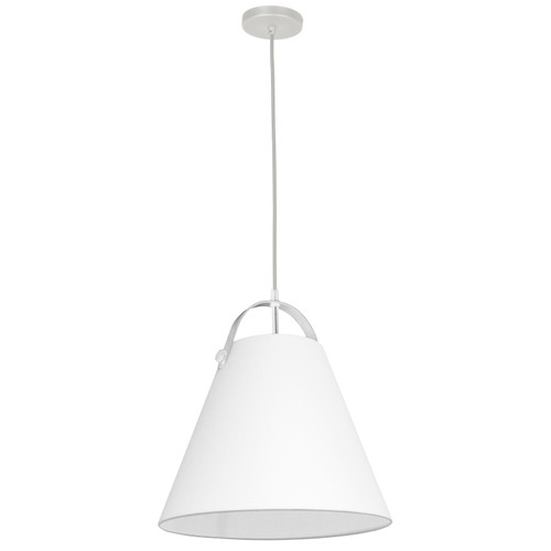 Dainolite Lighting  EMP-111P-790-WH 1 Light Emperor Pendant White with White Shade