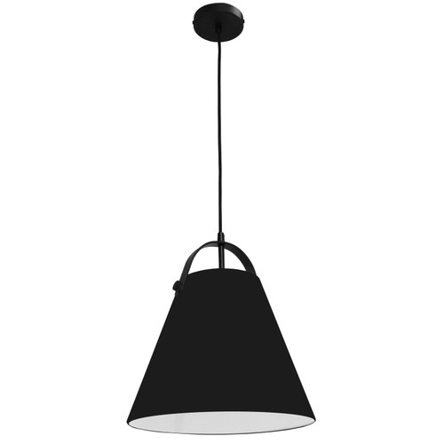 Dainolite Lighting  EMP-111P-797-MB 1 Light Emperor Pendant Matte Black with Black Shade