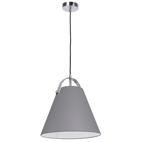 Dainolite Lighting  EMP-111P-835-PC 1 Light Emperor Pendant Polished Chrome with Grey Shade