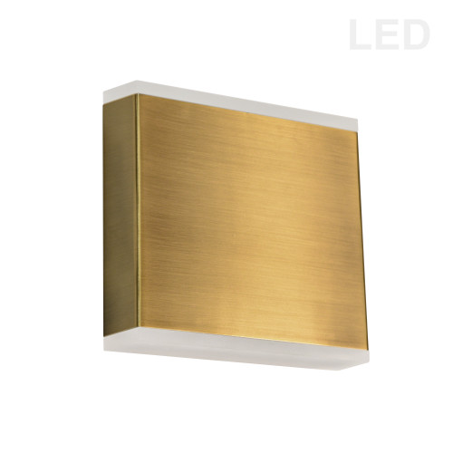 Dainolite Lighting  EMY-550-5W-AGB 15W LED Wall Sconce, Aged Brass with Frosted Acrylic Diffuser