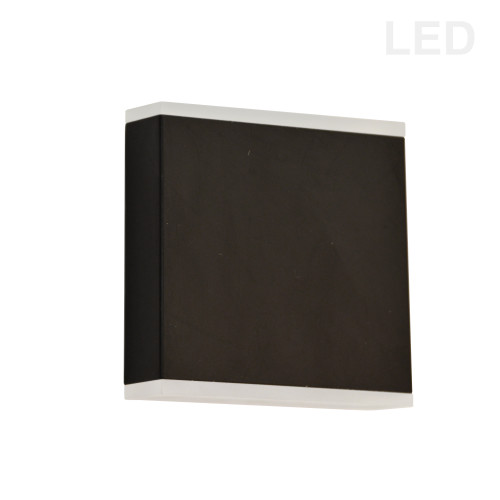 Dainolite Lighting  EMY-550-5W-MB 15W LED Wall Sconce, Matte Black with Frosted Acrylic Diffuser