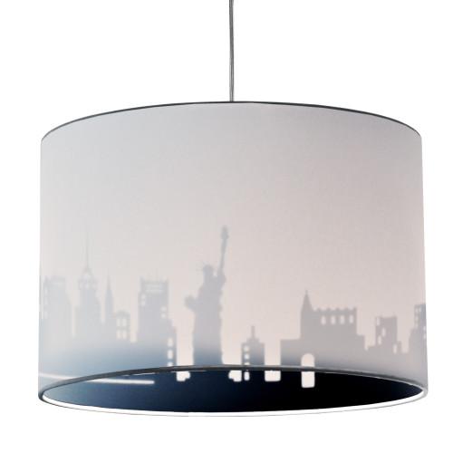 Dainolite Lighting  FEL-151P-WH-NY 1 Light Incandescent Felicity Pendant Jewel Tone White/Black, Polished Chrome