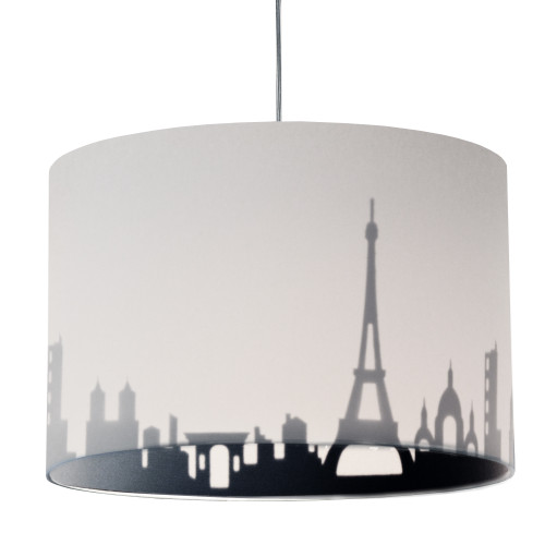 Dainolite Lighting  FEL-151P-WH-PAR 1 Light Incandescent Felicity Pendant Jewel Tone White/Black, Polished Chrome