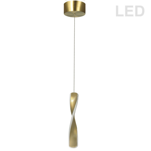Dainolite Lighting  FIN-1213LEDP-AGB 13W LED Pendant Aged Brass Finish