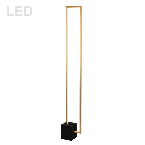 Dainolite Lighting  FLN-LEDF55-AGB-MB 34W LED Floor Lamp, Aged Brass with Matte Black Concrete Base