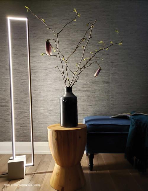 Dainolite Lighting  FLN-LEDF55-MB 34W LED Floor Lamp Black Finish with Concrete Base