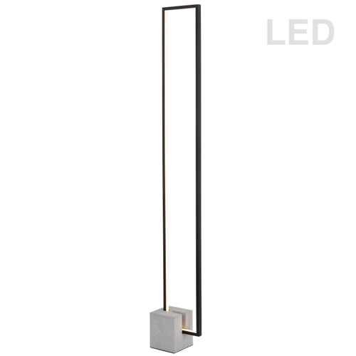 Dainolite Lighting  FLN-LEDF55-MB 34W LED Floor Lamp Black Finish with Concrete Base