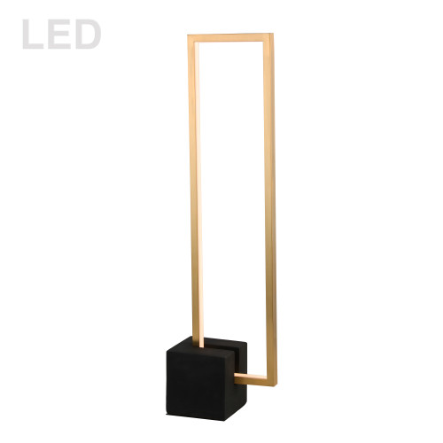 Dainolite Lighting  FLN-LEDT25-AGB-MB 21.6W LED Table Lamp, Aged Brass with Matte Black Concrete Base