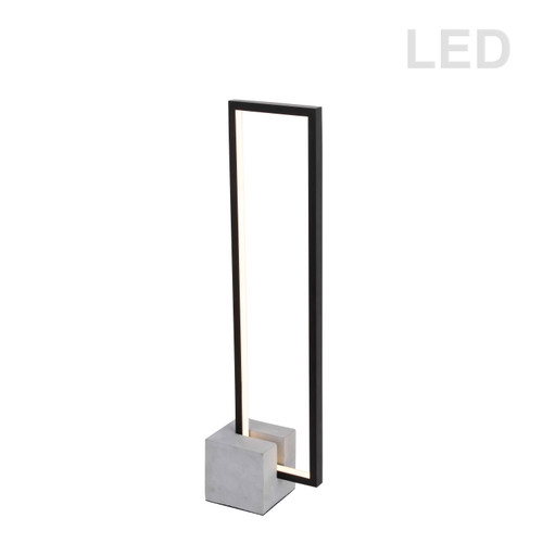 Dainolite Lighting  FLN-LEDT25-MB 21.6W LED Table Lamp Black Finish with Concrete Base