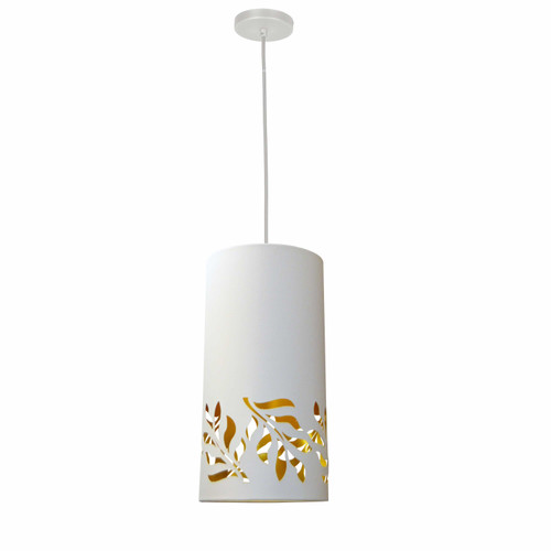 Dainolite Lighting  FLO-1P-692 1 Light Flora Pendant JTone White Gold White