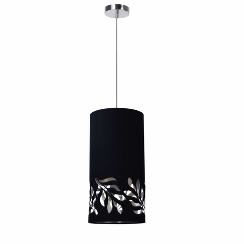 Dainolite Lighting  FLO-1P-697 1 Light Flora Pendant JTone Black Silver Polished