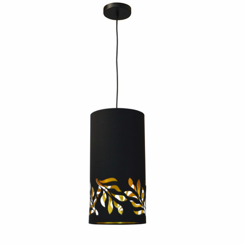Dainolite Lighting  FLO-1P-698 1 Light Flora Pendant JTone Black Gold