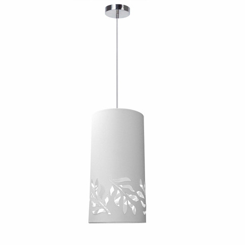 Dainolite Lighting  FLO-1P-790 1 Light Flora Pendant JTone White Polished Chrome