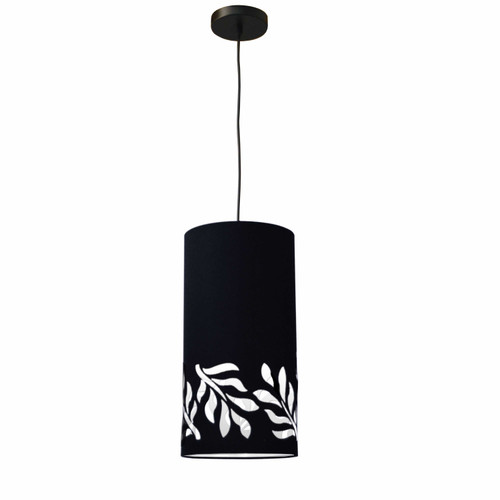Dainolite Lighting  FLO-1P-797 1 Light Flora Pendant JTone Black Black