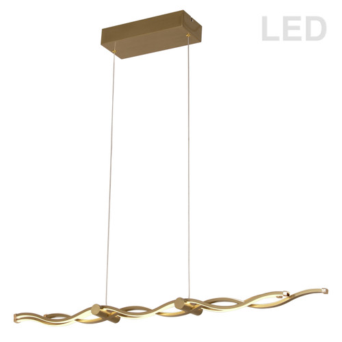 Dainolite Lighting  FLO-40HP-AGB 46W LED Horizontal Pendant, Aged Brass Finish