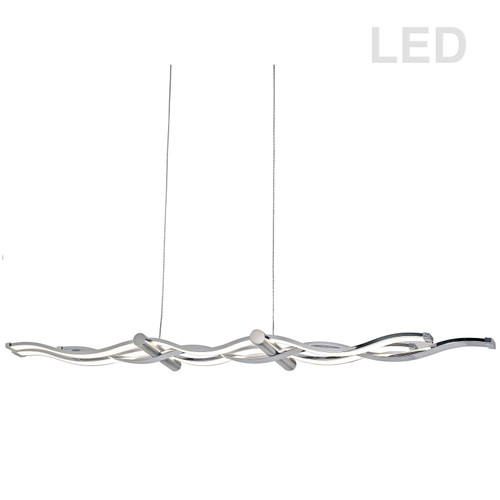 Dainolite Lighting  FLO-40HP-PC-SC 46W LED Horizontal Pendant, Polished Chrome & Satin Chrome Finish