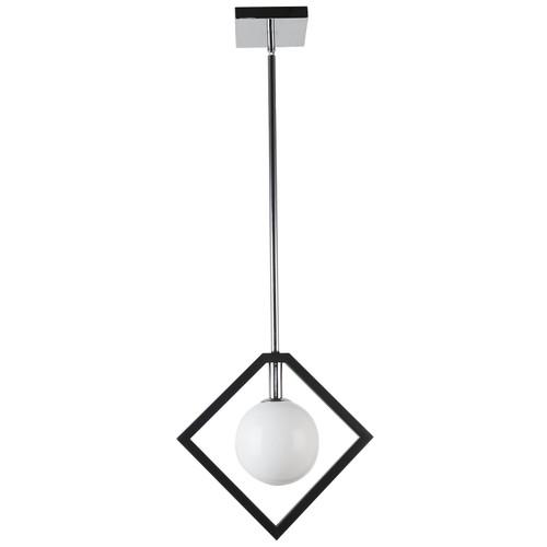 Dainolite Lighting  GLA-121P-MB-PC 1 Light Pendant, Matte Black & Polished Chrome Finish